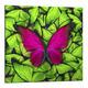 "Картина-репродукция 20x20 см ""Бабочка на зеленом"""
