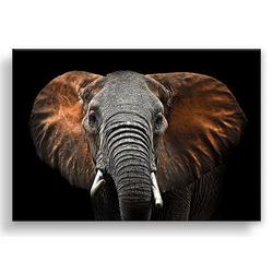 """Картина-репродукция с эффектом """"серебра"""" на холсте 85x113 см """"Слон-1"""""""