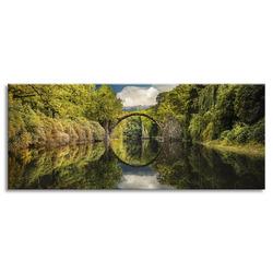 """Картина-репродукция на стекле 50x125 см """"Дьявольский мост"""""""
