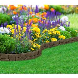 """Бордюр садовый """"Stones"""" 9х120 см, коричневый"""