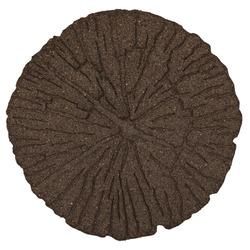 """Плитка для садовых тропинок """"Cracked"""" 45 см (круглая), коричневый"""