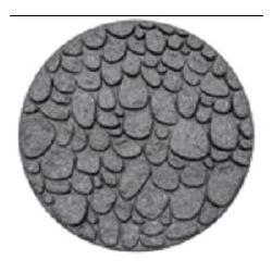 """Плитка для садовых тропинок """"Round River Rock"""" 45 см, серый"""