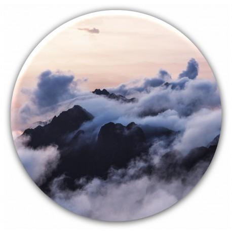 "Репродукция на стекле круглая, диаметр 70см ""Туман"""