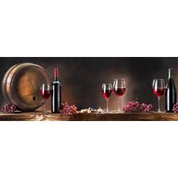"""Репродукция на стекле 30x80 см """"Вино"""""""