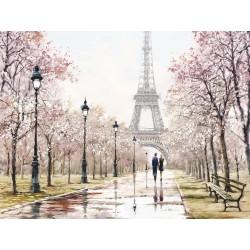 """Репродукция на холсте 60x80 см """"Париж"""""""