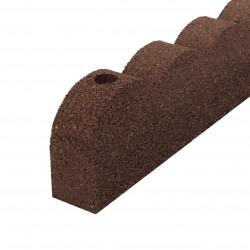 """Бордюр садовый """"Flexi Curve Scalloped"""" 9х120 см, коричневый"""