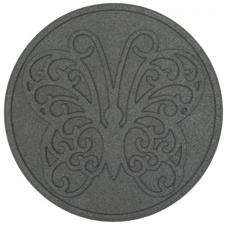 """Плитка для садовых тропинок """"Butterfly"""" 45 см (круглая), серая"""