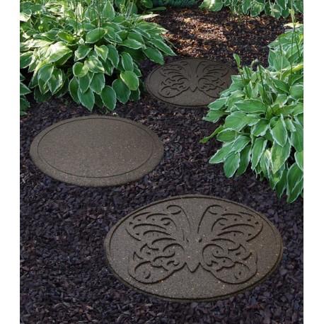 """Плитка для садовых тропинок """"Butterfly"""" 45 см (круглая), коричневый"""