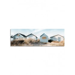 """Репродукция на холсте 45х140 см """"Пляжные домики"""""""