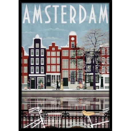 """Репродукция в рамке 50x70 см """"Амстердам"""""""