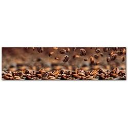 """Репродукция на стекле 30x115 см """"Зерна кофе"""""""