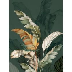 """Репродукция на холсте 60x80 см """"Зеленые листья"""""""