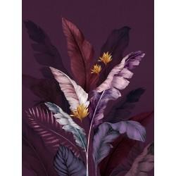"""Репродукция на холсте 60x80 см """"Фиолетовые листья"""""""