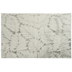 Ковер Prestige 80x150 см (100% полиэстер), листья серый