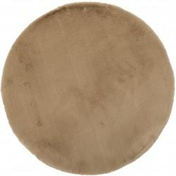 Ковер Bellarossa 80 см, круглый (100% полиэстер), бежевый