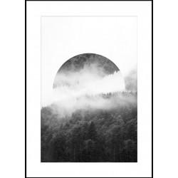 """Репродукция в рамке 50x70 см """"Круг из тумана"""""""