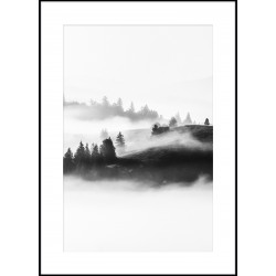 "Репродукция в рамке 50x70 см ""Вид в тумане"""