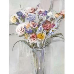 "Репродукция на холсте 60x80 см ""Цветы в вазе"""