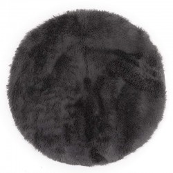 Ковер VICUNA 80 см круглый (100% полиэстер), темно-серый