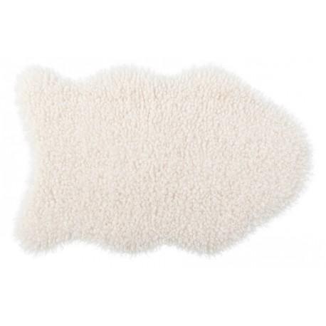 Коврик-шкура BARANEK 50x80 см (ПЭ-100%),(фигурный), белый