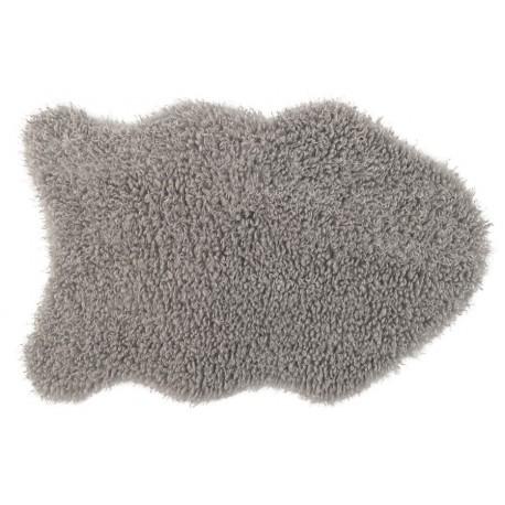 Коврик-шкура BARANEK 50x80 см (ПЭ-100%),(фигурный), серый