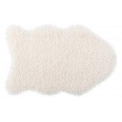 Коврик-шкура BARANEK 60x90 см (ПЭ-100%),(фигурный), белый