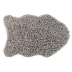 Коврик-шкура BARANEK 60x90 см (ПЭ-100%),(фигурный), серый