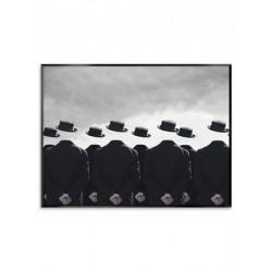 """Репродукция на холсте в рамке 75x100 см """"Черные шляпы"""""""