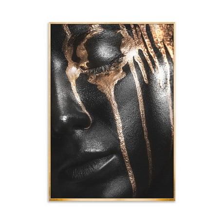 """Репродукция на холсте в рамке 75x100 см с эффектом """"нанесения серебра"""" """"Гламур2"""""""