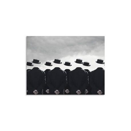"""Репродукция на холсте 85x113 см """"Черные шляпы"""""""