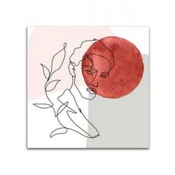 """Репродукция на холсте 65x65 см """"Красный шар"""""""