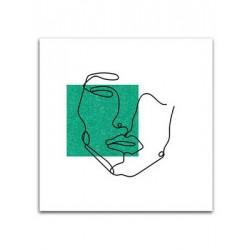 """Репродукция на холсте 65x65 см """"Зеленый квадрат"""""""