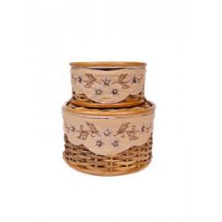 Комплект плетенных корзин из ротанга