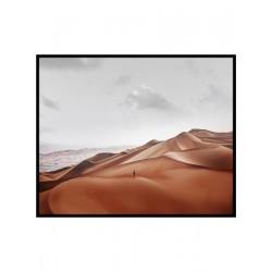 """Репродукция на холсте в рамке 75x100 см """"Человек в пустыне"""""""