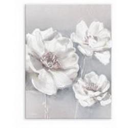 """Репродукция на холсте 60x80 см """"Белые цветы"""""""