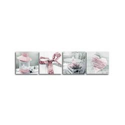 """Картина-репродукция """"Винтаж в розовом цвете"""", 32х128 см"""