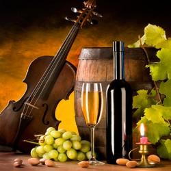 """Картина-репродукция """"Белое вино и скрипка"""", 30 x30 см"""