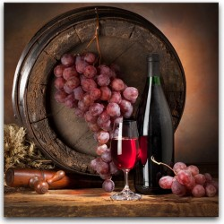 "Картина-репродукция ""Красное вино"", 30 x30 см"