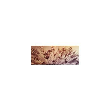 """Картина-репродукция на стекле 50x125 см """"Золотые капельки"""""""